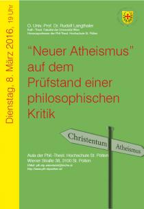 "Plakat ""Neuer Atheismus"""