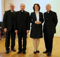 Weihbischof Leichtfried, Rektor Knittel, Rektorin Müller, Bischof Küng