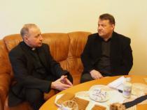 Rektor Reinhard Knittel und Dekan Cyril Hišem