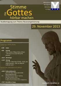 Plakat Studientag Neuevangelisierung