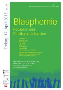 Plakat Blasphemie