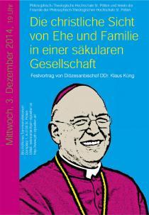 Plakat Festvortrag Bischof Küng