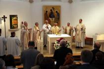 Weihbischof Dr. Anton Leichtfried eröffnet das Studienjahr mit einer Hl. Messe mit Rektor Dr. Reinhard Knittel und Prorektor Dr. Josef Kreiml