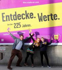 Die Studierenden tragen die Kampagne auch durch persönlichen Werbeeinsatz mit.