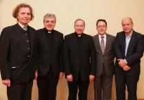 Prof. Dr. Bernhard Dolna, Prof. Dr. Josef Kreiml, Rektor Dr. Reinhard Knittel, a.o. Prof DDr. Burkhard Berkmann, Priv.Doz. Dr. Ernst Fürlinger